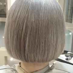 ボブ ブリーチ アッシュ 外国人風 ヘアスタイルや髪型の写真・画像