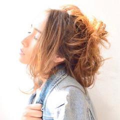 秋 ナチュラル リラックス ヘアアレンジ ヘアスタイルや髪型の写真・画像