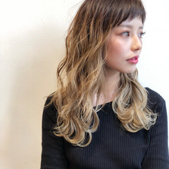 透明感 モード ちぴばんぐ ハイライト ヘアスタイルや髪型の写真・画像