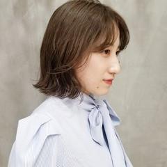 韓国ヘア イルミナカラー 韓国 ボブ ヘアスタイルや髪型の写真・画像