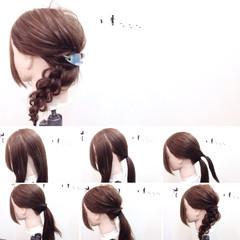 リラックス 簡単ヘアアレンジ ヘアアレンジ ショート ヘアスタイルや髪型の写真・画像