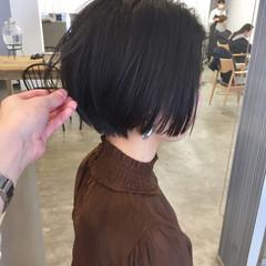 小顔ショート ショートボブ ショートヘア ハンサムショート ヘアスタイルや髪型の写真・画像