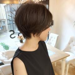 ショート アンニュイほつれヘア デート ストリート ヘアスタイルや髪型の写真・画像