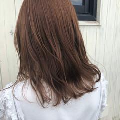 鎖骨ミディアム ミディアム ナチュラル ゆる巻き ヘアスタイルや髪型の写真・画像