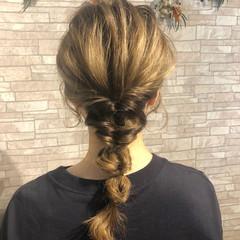 ヘアアレンジ セルフヘアアレンジ くるりんぱ ロング ヘアスタイルや髪型の写真・画像