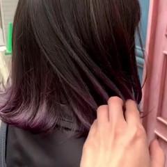 暗髪 切りっぱなしボブ ショートボブ ミニボブ ヘアスタイルや髪型の写真・画像