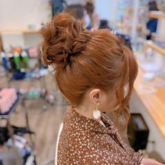 簡単ヘアアレンジ お団子ヘア ヘアアレンジ 編み込みヘア ヘアスタイルや髪型の写真・画像