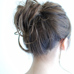 簡単ヘアアレンジ 色気 夏 ガーリー ヘアスタイルや髪型の写真・画像