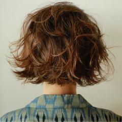 ボブ 簡単 秋 ナチュラル ヘアスタイルや髪型の写真・画像