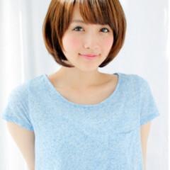 ひし形 ショート ピュア ナチュラル ヘアスタイルや髪型の写真・画像