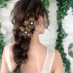 デート 簡単ヘアアレンジ 花嫁 結婚式 ヘアスタイルや髪型の写真・画像