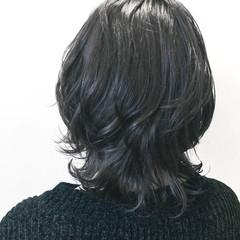 パーマ ミディアム 外国人風カラー 透明感 ヘアスタイルや髪型の写真・画像