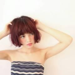 ナチュラル 外国人風 ボブ パンク ヘアスタイルや髪型の写真・画像