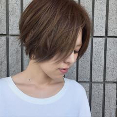 リラックス 外国人風カラー ショート 女子会 ヘアスタイルや髪型の写真・画像