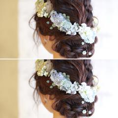 ゆるふわ フェミニン 結婚式 簡単ヘアアレンジ ヘアスタイルや髪型の写真・画像