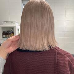 ハイトーンボブ ハイトーンカラー ハイライト ミディアム ヘアスタイルや髪型の写真・画像