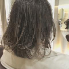 外国人風 ボブ イルミナカラー ナチュラル ヘアスタイルや髪型の写真・画像