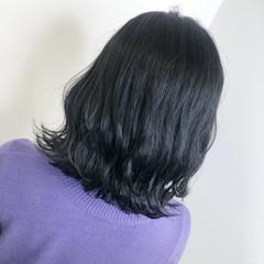 ダークカラー 透明感カラー 暗髪 ナチュラル ヘアスタイルや髪型の写真・画像