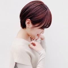 ショートボブ ナチュラル ショートヘア ウルフカット ヘアスタイルや髪型の写真・画像
