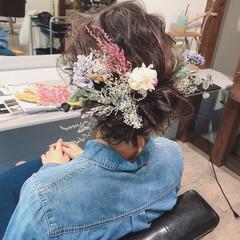 ヘアアレンジ ナチュラル 成人式 デート ヘアスタイルや髪型の写真・画像