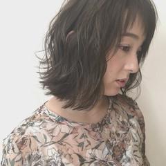 大人かわいい 外ハネ ナチュラル 外国人風 ヘアスタイルや髪型の写真・画像