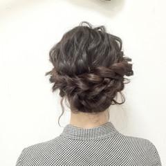 愛され 波ウェーブ ロング 編み込み ヘアスタイルや髪型の写真・画像