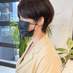 マッシュショート ショート ナチュラル ショートヘア ヘアスタイルや髪型の写真・画像