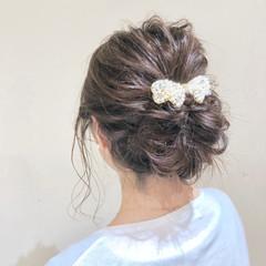 パーティ ヘアアレンジ ミディアム デート ヘアスタイルや髪型の写真・画像