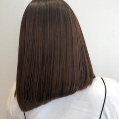 髪質改善トリートメント ミディアム エアーストレート ナチュラル ヘアスタイルや髪型の写真・画像