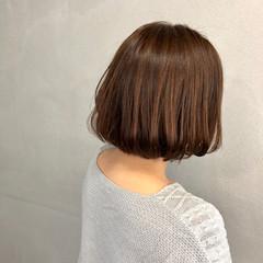 ワンカール ショート ボブ ナチュラル ヘアスタイルや髪型の写真・画像