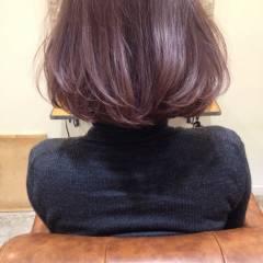 アッシュ ガーリー パープル ボブ ヘアスタイルや髪型の写真・画像