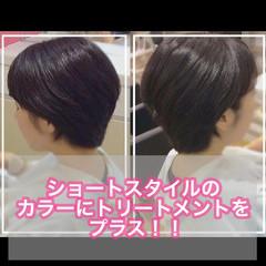 髪質改善トリートメント ベリーショート ショートボブ ショートヘア ヘアスタイルや髪型の写真・画像