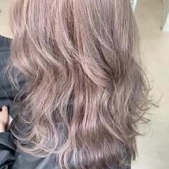 ダブルカラー ガーリー ミルクティーグレージュ セミロング ヘアスタイルや髪型の写真・画像
