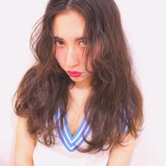 ピュア 外国人風 セミロング ゆるふわ ヘアスタイルや髪型の写真・画像