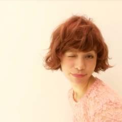 ガーリー レッド ピンク モテ髪 ヘアスタイルや髪型の写真・画像