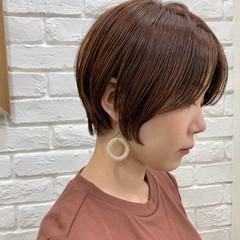 前髪あり ショート ナチュラル ショートボブ ヘアスタイルや髪型の写真・画像