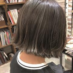 女子力 アウトドア ゆるふわ ボブ ヘアスタイルや髪型の写真・画像