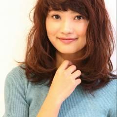 ミディアム モテ髪 大人かわいい 秋 ヘアスタイルや髪型の写真・画像