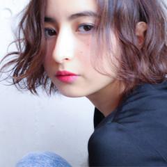 ショートボブ 外国人風 パーマ ハイライト ヘアスタイルや髪型の写真・画像
