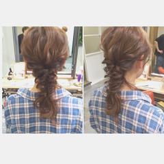 ミディアム ヘアアレンジ ナチュラル 大人かわいい ヘアスタイルや髪型の写真・画像