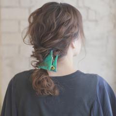 ヘアアレンジ 夏 ショート セミロング ヘアスタイルや髪型の写真・画像
