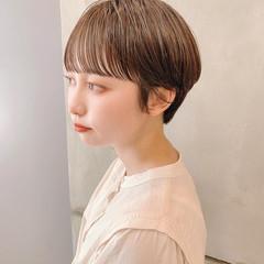 簡単スタイリング 横顔美人 小顔ショート デートヘア ヘアスタイルや髪型の写真・画像