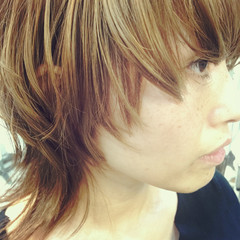 ヘアアレンジ マッシュ モード ウルフカット ヘアスタイルや髪型の写真・画像