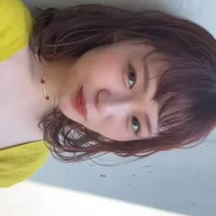 ミディアム 前髪パーマ ワンカールスタイリング 切りっぱなしボブ ヘアスタイルや髪型の写真・画像