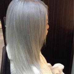 渋谷系 ホワイト ガーリー ハイトーン ヘアスタイルや髪型の写真・画像