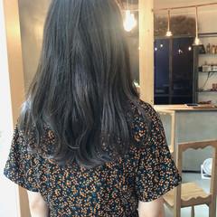 ナチュラル ロング 外国人風カラー 黒髪 ヘアスタイルや髪型の写真・画像