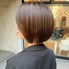 ゆるふわ ストレート ショートボブ ショートヘア ヘアスタイルや髪型の写真・画像