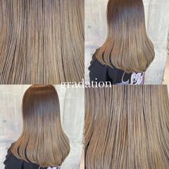 グラデーションカラー ミディアム ストリート アッシュグラデーション ヘアスタイルや髪型の写真・画像