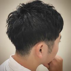 ショート ナチュラル 束感 メンズ ヘアスタイルや髪型の写真・画像
