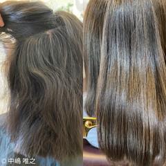 ストレート 艶髪 アッシュ クセ ヘアスタイルや髪型の写真・画像